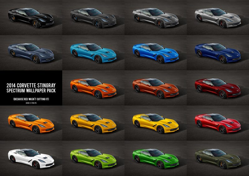 here is what the new corvette stingray will look like in any color
