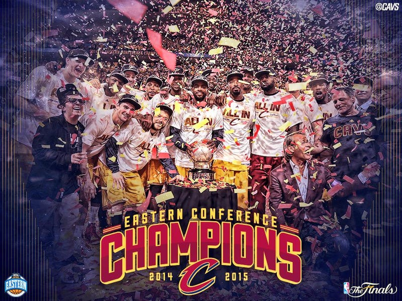 Illustration for article titled CAVS ARE IN THE NBA FINALS BABY!!!!!!!!