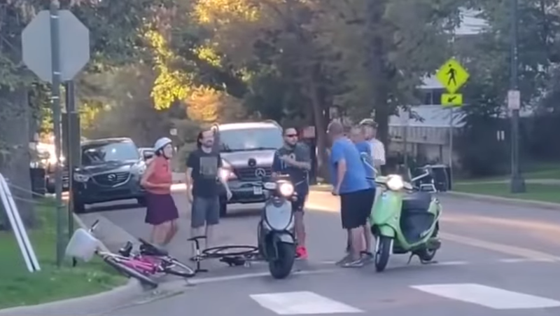 It's Hard To Look Tough When You Road Rage On A Scooter
