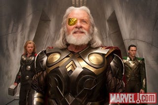 Illustration for article titled New Thor movie photo shows Anthony Hopkins as the alpha Asgardian