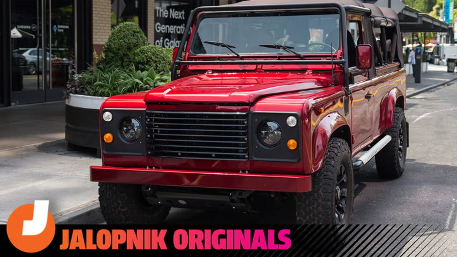 Driving a Restored Land Rover Defender Is Pure Joy