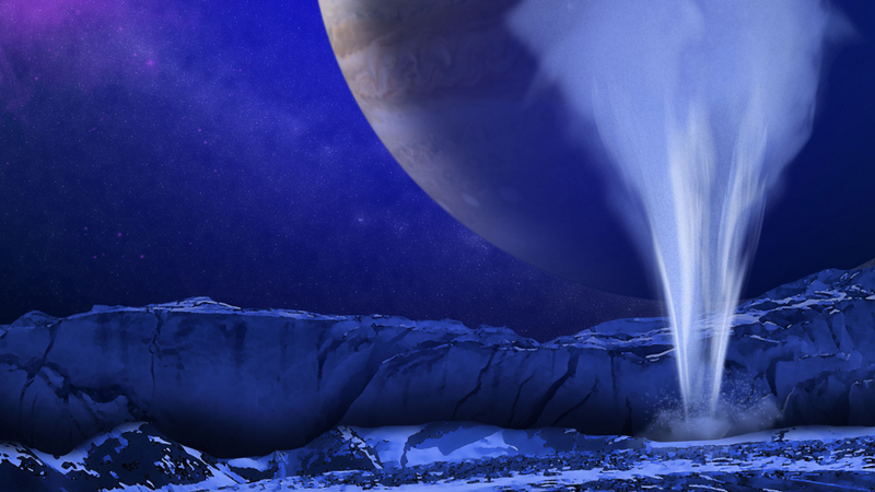 Illustration for article titled Water Eruptions on Europa Mean that Conditions Are Ripe for Life