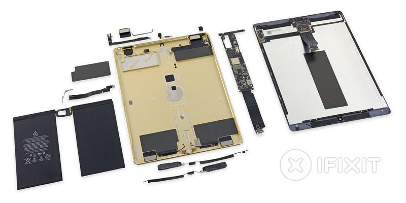 Illustration for article titled El iPad Pro, desmontado pieza a pieza: más grande, pero no más fácil de reparar