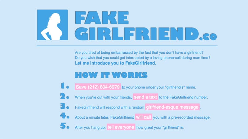 Illustration for article titled Fake Girlfriend Texting Service Is Actually Pretty Brilliant