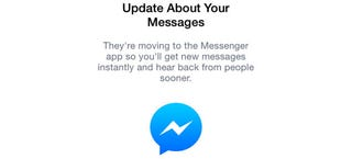 Illustration for article titled The Facebook Messenger App Migration Officially Starts Today