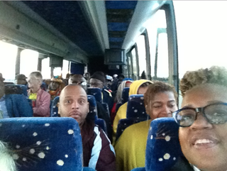 The People's Organization for Progress, a New Jersey-based activist organization, on the way to the 20th-anniversary Million Man March in Washington, D.C., Oct. 10, 2015. The writer, Todd Burroughs, is in the front left seat.People's Organization for Progress