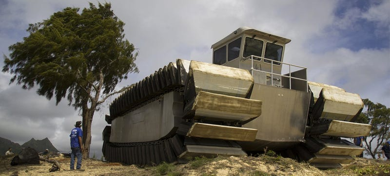 Illustration for article titled US Marines Turned A Ship Into A Truck, Watch It Be An Absolute Beast