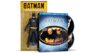 Illustration for article titled The 25th Anniversary Batman Blu-ray comes with a Keaton Batman figure!