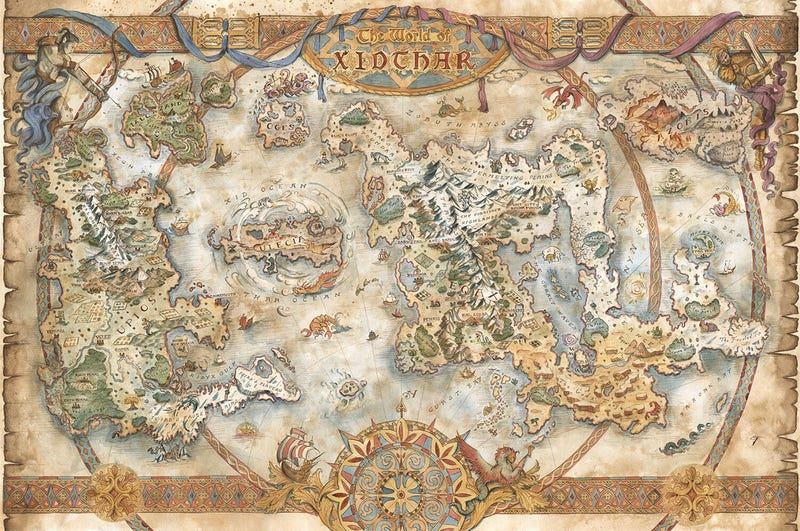 A Collection Of Beautiful, Hand-Drawn Maps For Video Games