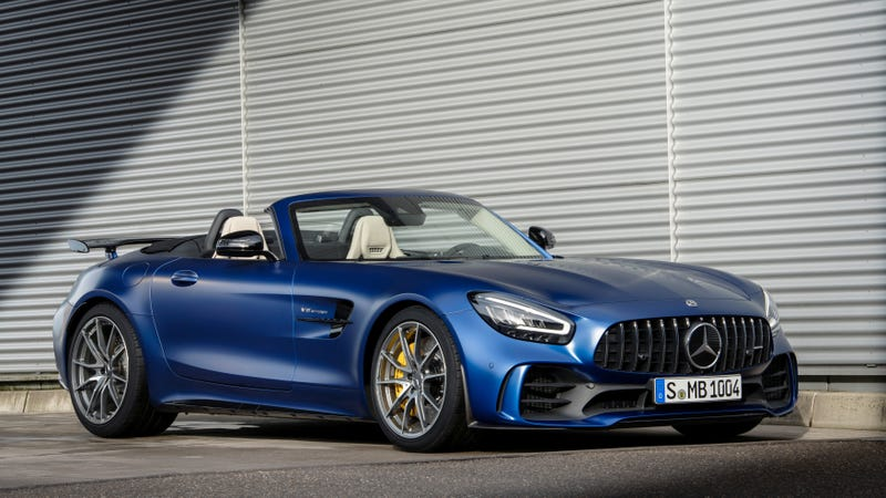 The Mercedes-AMG GT R roadster, which is currently rear-wheel drive.