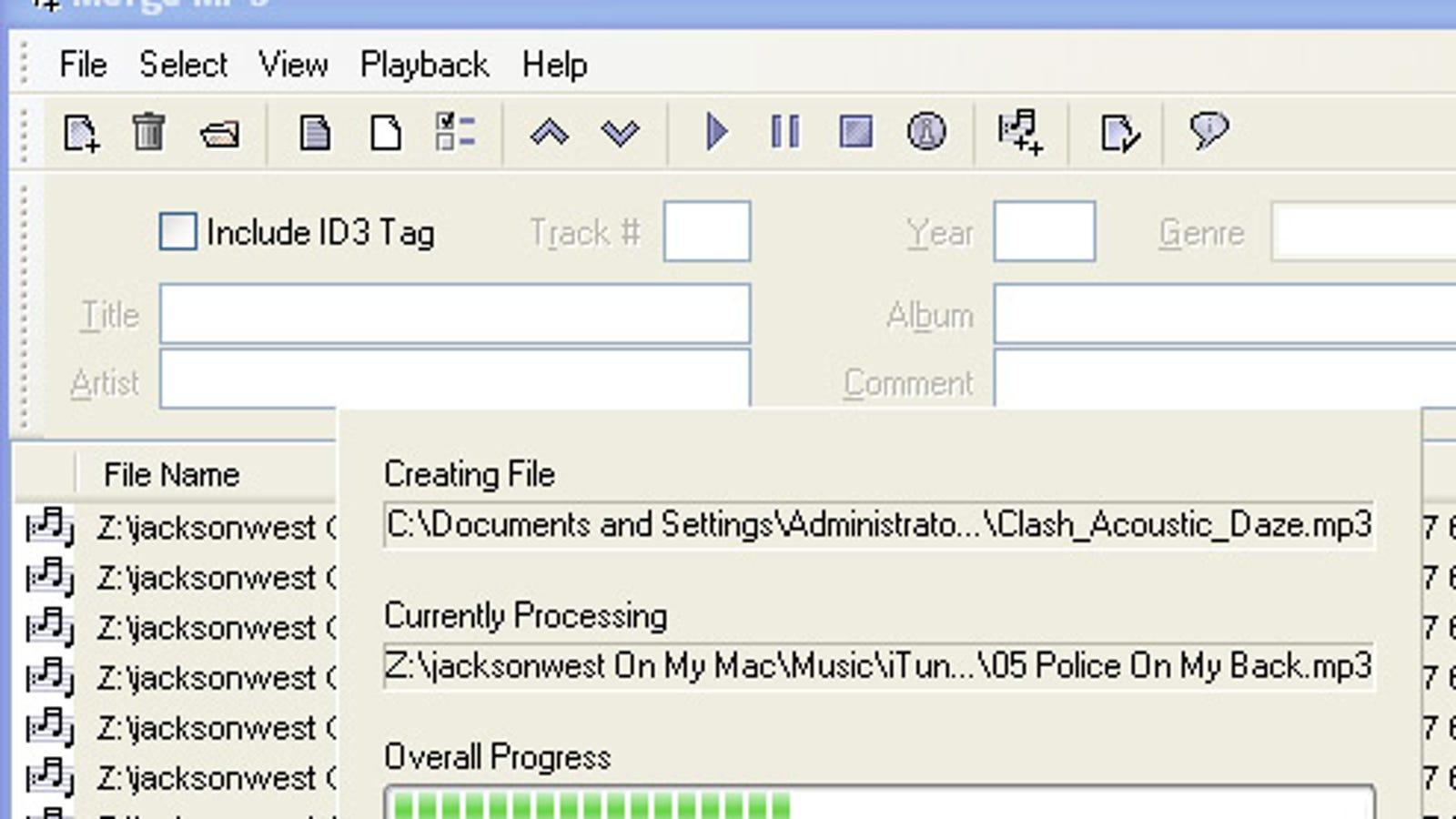 merge mp3 files online mac
