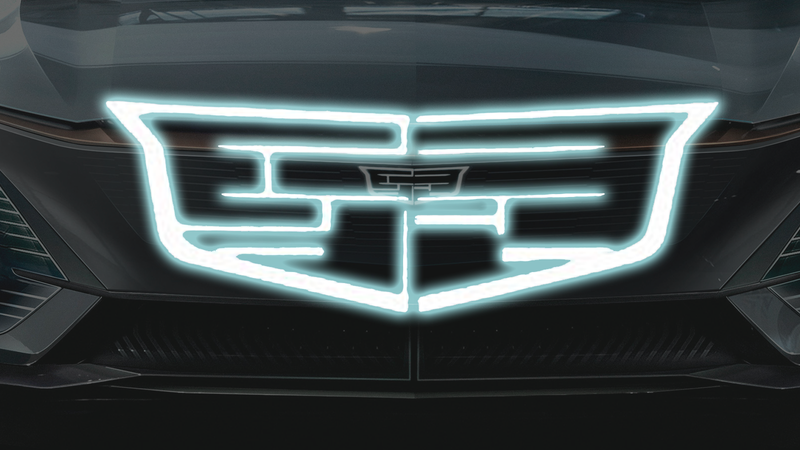 Illustration for article titled Let's Look at The New Logo on Cadillac's First Electric Vehicle