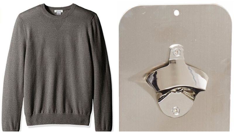 Illustration for article titled Today's Amazon deals: Cheap cashmere and a game-changing bottle opener
