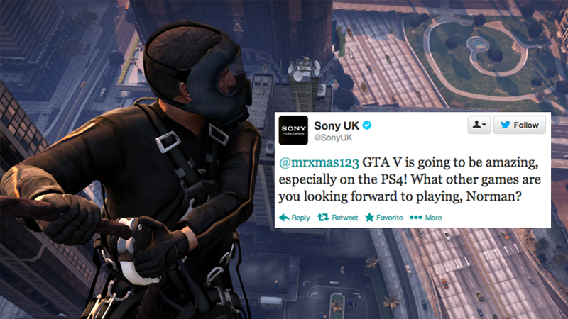 Illustration for article titled Rockstar: Sony's PS4 GTA V Tweet Was Just A Typo [UPDATE]