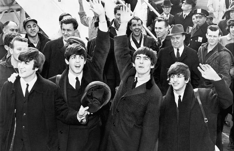 Los Beatles a su llegada a Nueva York en 1964