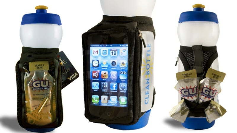 Illustration for article titled Take Your Phone on a Jog with this Water Bottle Strap. Handy!
