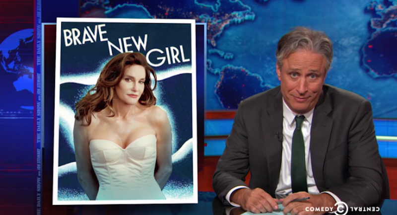 Illustration for article titled Jon Stewart to Caitlyn Jenner: 'Welcome to Being a Woman in America'