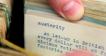 """Illustration for article titled """"Austerity"""" Is The Word Of The Year"""