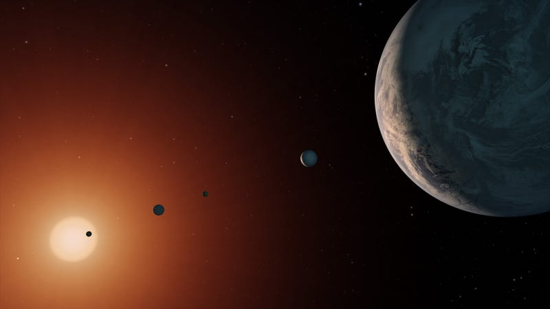 Artist's depiction of TRAPPIST-1. (Image: NASA)