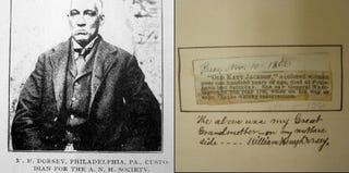 "William Henry Dorsey (Colored American magazine); obit in the ""Colored Centenarians"" scrapbook (Cheyney University Archive)"