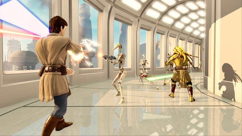 Illustration for article titled Barely Feeling the Force in Kinect Star Wars