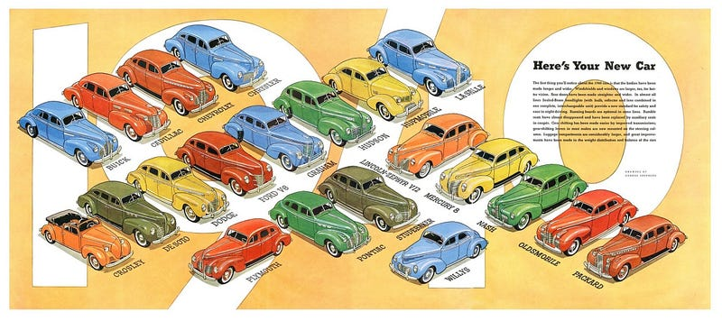 Illustration for article titled The Problem Today Is That All the Cars Look the Same