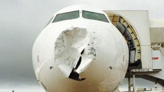 Illustration for article titled Hail Caused All Of The Damage On This Plane