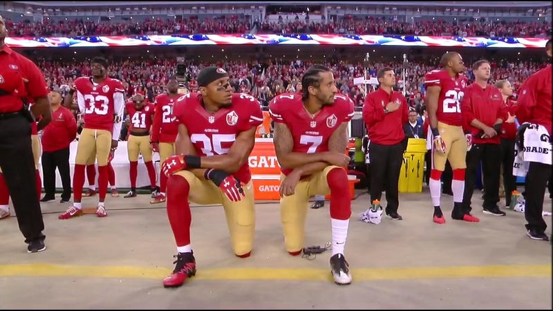 Illustration for article titled Colin Kaepernick Continues Protesting During National Anthem, Four Players Raise Fists [Update]