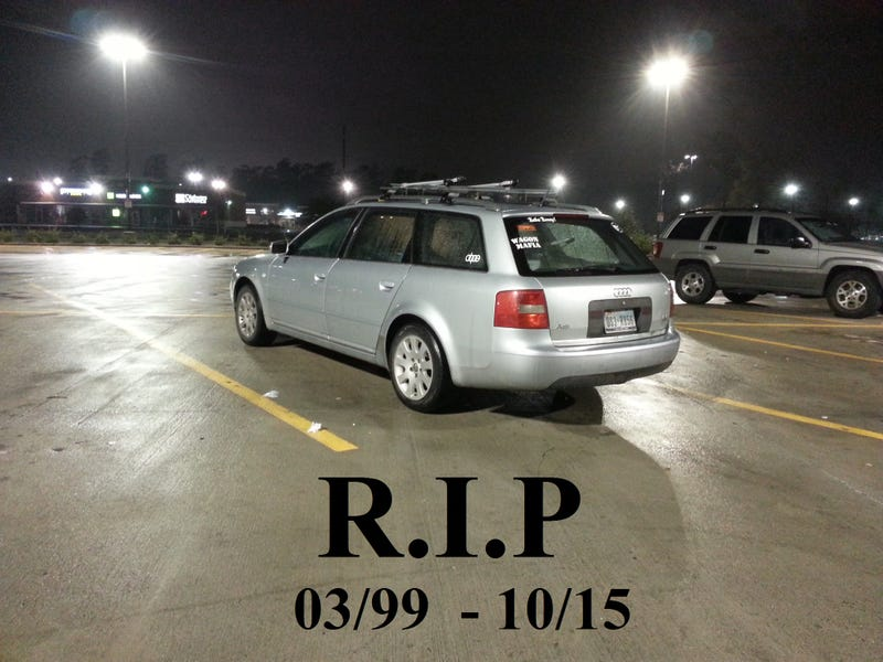 Illustration for article titled R.I.P. Uly's Audi Wagon