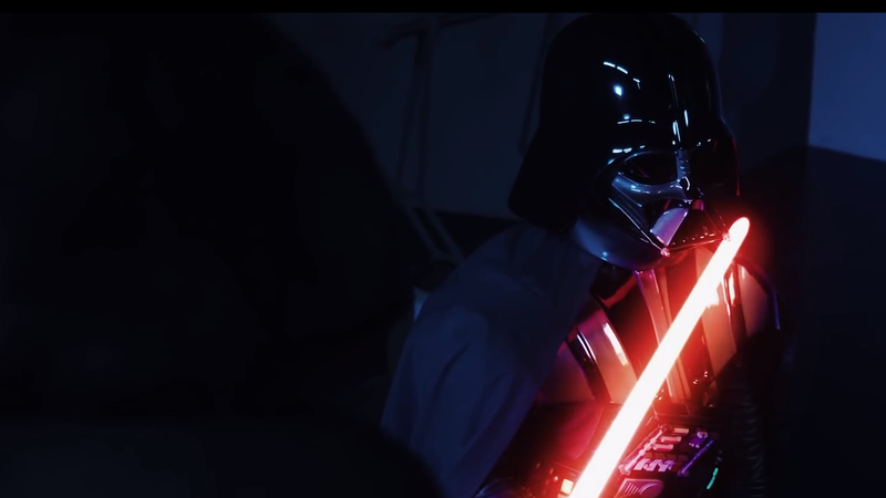 Vader, facing his own blade.
