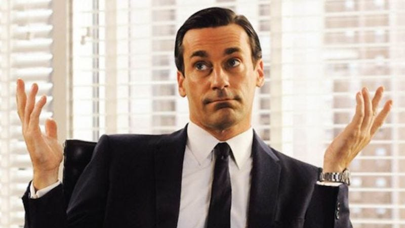 Jon Hamm on Mad Men. Or is it? It is.
