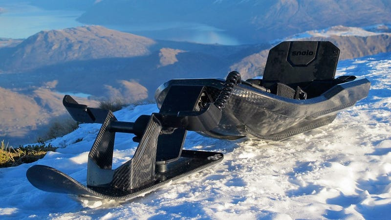 Illustration for article titled This Gorgeous Carbon Fiber Sled Could Be Your Perfect Post-Frankenstorm Ride