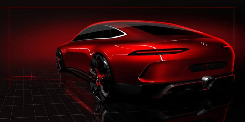 Illustration for article titled The Mercedes-AMG GT Four-Door Concept Should Be Pretty Kickass