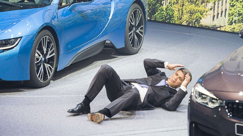 Illustration for article titled New BMW CEO Collapses In The Middle Of Press Conference