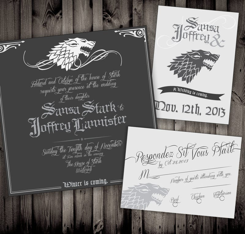 Illustration for article titled Game of Thrones Wedding Invites Promise a Day They'll Never Forget