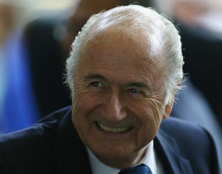 Illustration for article titled Blatter Admits Qatar World Cup May Be A Mistake, Throws Shit At Wall