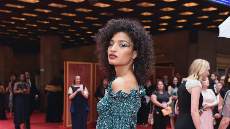 Indya Moore attends the 72nd Annual Tony Awards at Radio City Music Hall on June 10, 2018 in New York City.