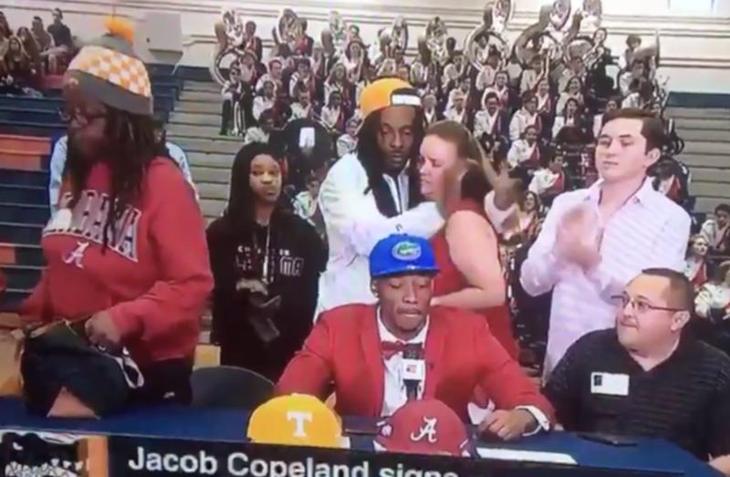 Jacob Copeland's mom was not here for his Florida shenanigans (ESPN via YouTube screenshot)