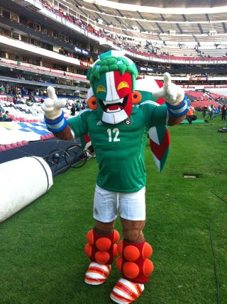 Illustration for article titled Mexico's Official Soccer Mascot Will Haunt Your Dreams