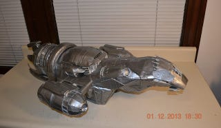 Illustration for article titled Firefly's Serenity Made Entirely Out Of Duct Tape Is Literally Shiny