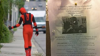 Illustration for article titled A real-life Deadpool is patrolling a small city in Washington state