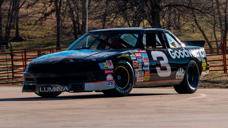 The 1989 Chevrolet Lumina said to have been raced by Dale Earnhardt Sr.