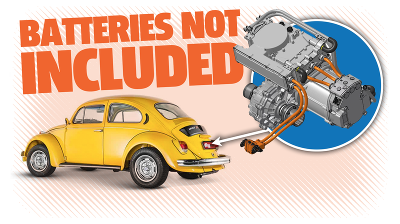 Illustration for article titled Finally, An Electric Crate Motor You Can Drop Into Your Old Car