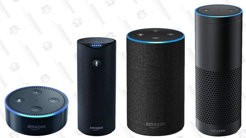 Refurb Amazon Echo Dot | $35 | AmazonRefurb Amazon Echo | $70 | AmazonRefurb Amazon Echo Tap | $70 | AmazonRefurb Amazon Echo Plus | $110 | Amazon
