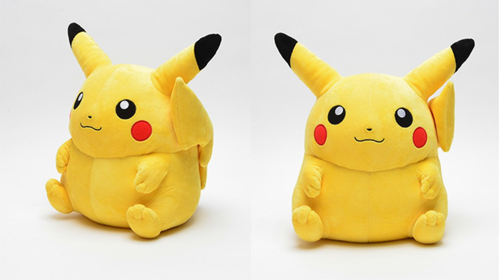this pudgy pikachu plush is practically perfect