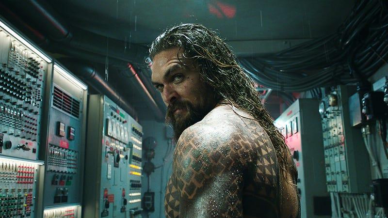 Aquaman (Jason Momoa) just heard something he likes.