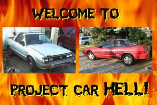 Illustration for article titled Project Car Hell, 80s Subaru Edition: BRAT or XT6?