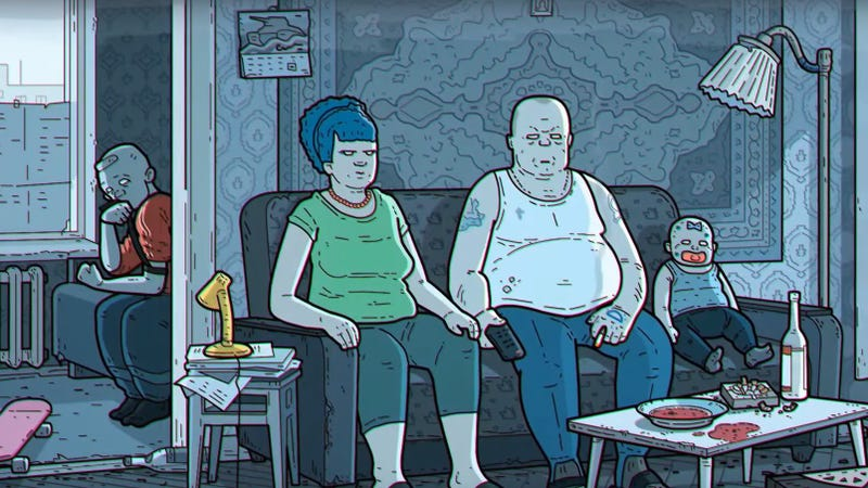 """Embrace cartoon despair with the """"Russian art film"""" version of The Simpsons' opening"""