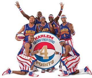 Illustration for article titled Globetrotters Unveil Four-Point Shot; Why Not The NBA?