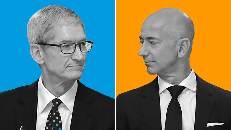 Illustration for article titled Apple and Amazon Have the Most Annoying Ongoing Feud in Tech